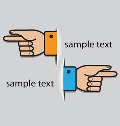 hand pointing direction vector image