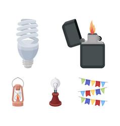 lighter economical light bulb edison lamp vector image