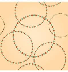 Retro vintage circle round stars pattern vector image vector image