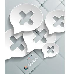 Talk concept 3d paper design vector image vector image