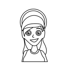 virgin mary mother of god cartoon vector image