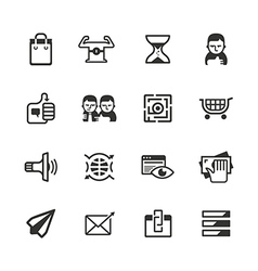 16 content marketing icons vector image vector image