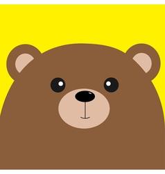 Bear grizzly big head Cute cartoon character vector image vector image