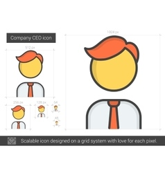 Company ceo line icon vector
