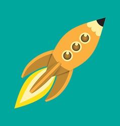 Flying rocket vector image