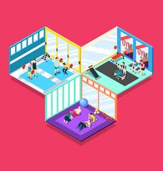 Gym isometric design concept vector