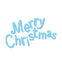 Hand drawn Merry Christmas isolated on white vector image vector image
