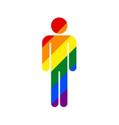 human lgbt movement rainbow flag vector image vector image
