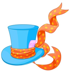 Top hat of Mad Hatter vector image