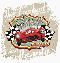 vintage fastest car vector image vector image
