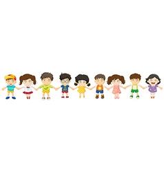 Children in a row vector image vector image