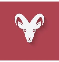 Goat head symbol vector
