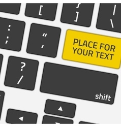 Keyboard with text button vector image