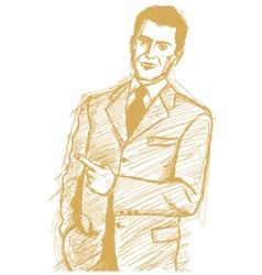 Man Finger vector image