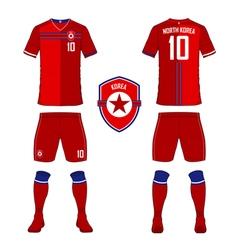 North Korea soccer kit football jersey template vector image vector image