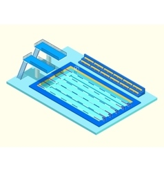 Realistic isometric sport pool Creative 3D vector image