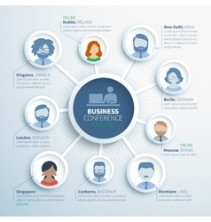 Colorful infographics of online business vector
