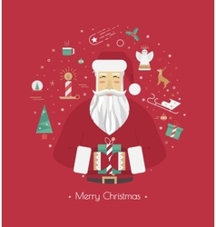 Print for Christmas decorations vector image