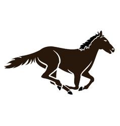 Racing horse icon vector