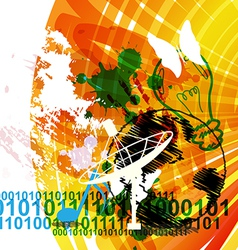 urban communication concept background vector image