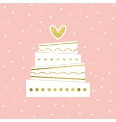 Wedding Cake Card vector image vector image