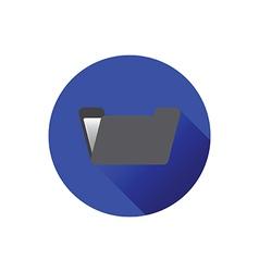 0210b flat folder icon vector