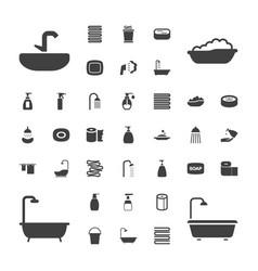 37 bath icons vector