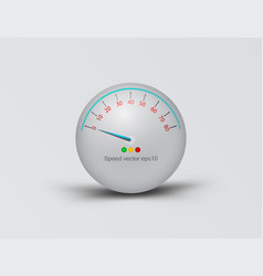 3d speedometer ball scene vector