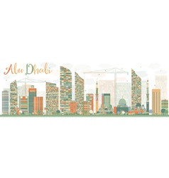 Abstract Abu Dhabi City Skyline vector