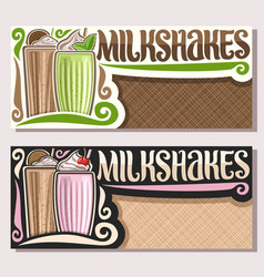 banners for milkshakes vector image