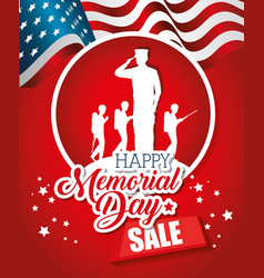 big sale commercial label for memorial day vector image