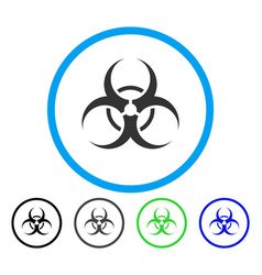 biohazard symbol rounded icon vector image