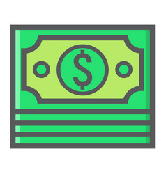 bundle of money filled outline icon business vector image