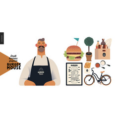 Burger house - small business graphics -owner vector