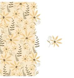 Card with peach flower vector