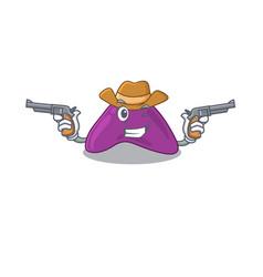 Cartoon character cowboy adrenal with guns vector