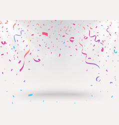 celebration background with colorful confetti vector image