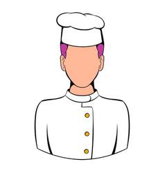 Chef icon cartoon vector