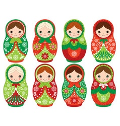 Christmas Matryoshka Set vector