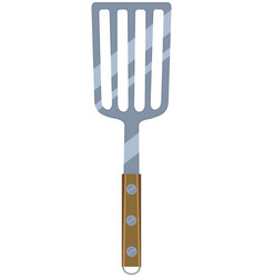 colorful cartoon bbq spatula wooden handle vector image