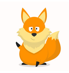 Cute fox character with an inferior expression vector