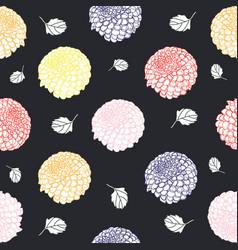 dahlia flower pattern vector image