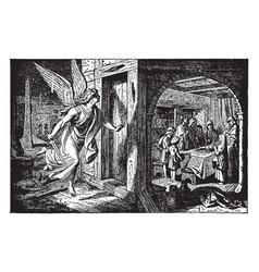 Death angel passes over an israelite door vector
