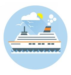 Digital with ocean ship boat icon vector image