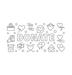 donate outline horizontal vector image