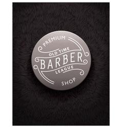 Emblem design for Barbershop vector image