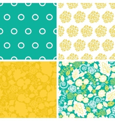Emerald flowerals set of four marching vector