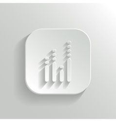 Equalizer icon - white app button vector