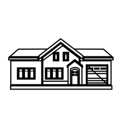 exterior house isolated icon vector image