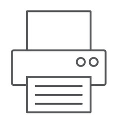 fax thin line icon office and document printer vector image